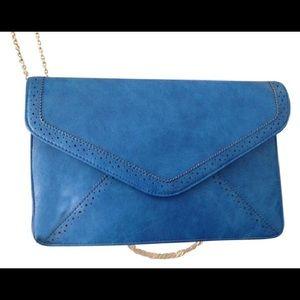 NWOT Blue Wallet/Crossbody Bag Vegan Leather